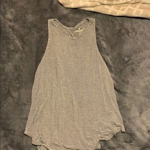 american eagle open back tank top